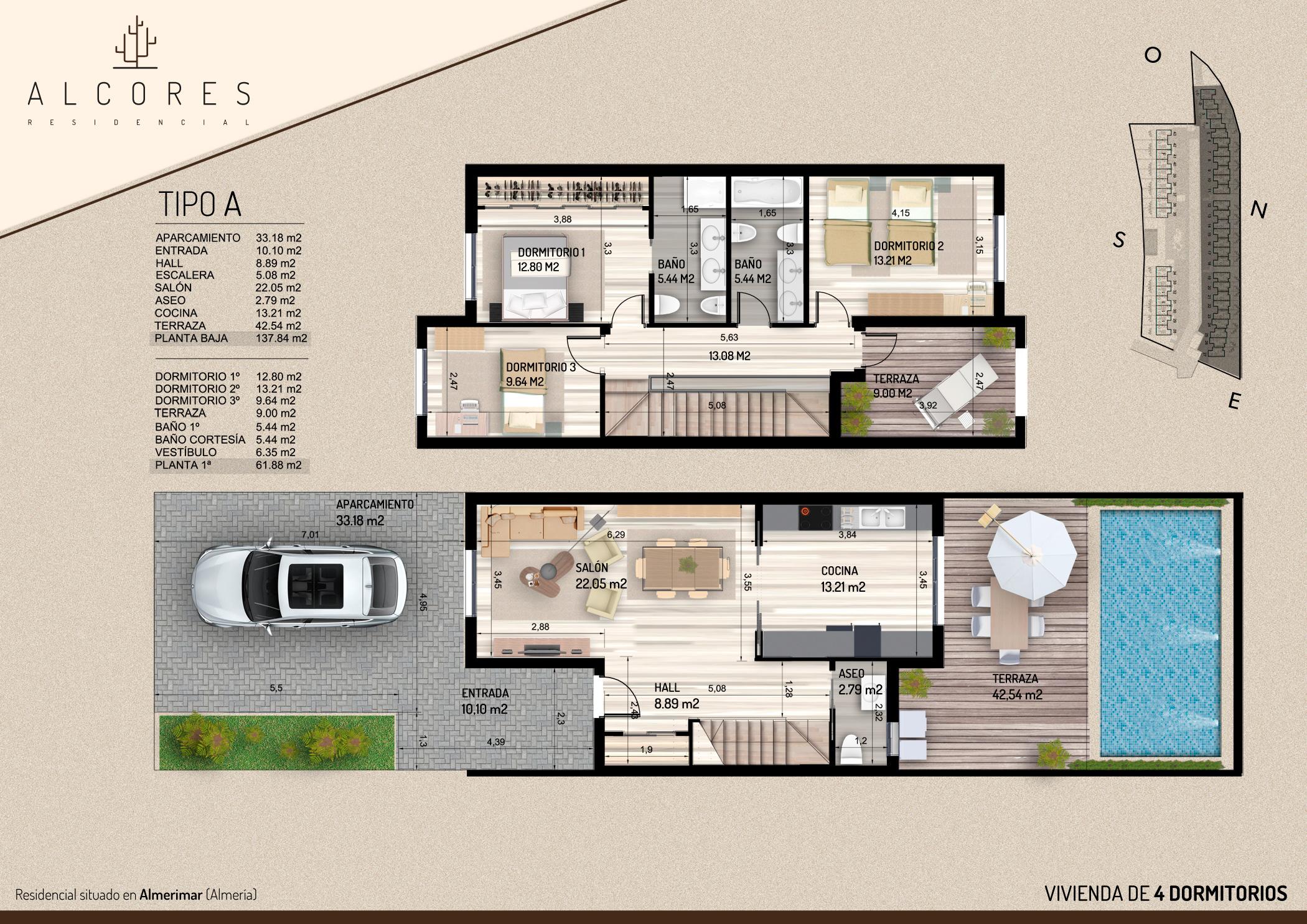 Duplex de 3 dormitorios inmobiliaria el puerto pisos - Planos de una vivienda ...