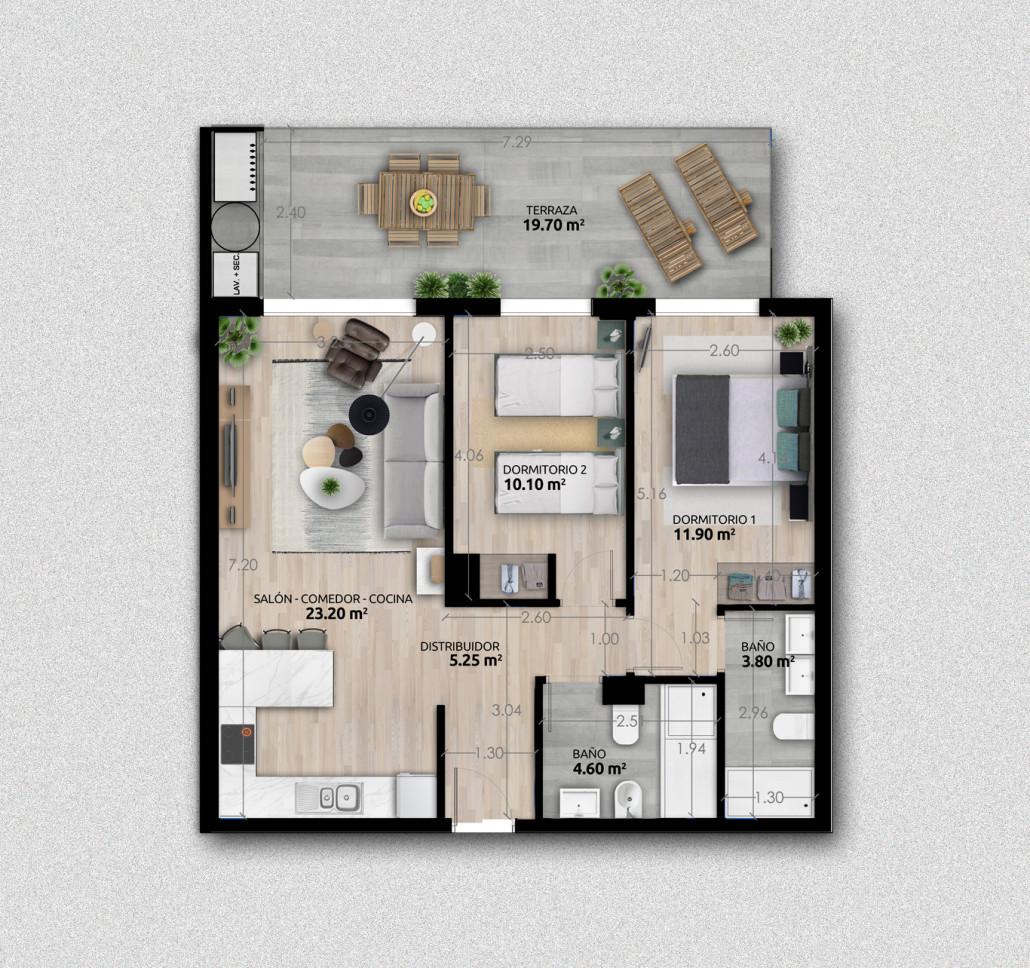 2 Dormitorios Vega Parque 2