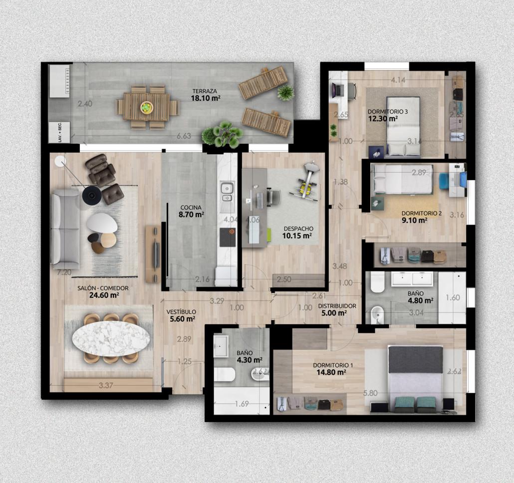 4 Dormitorios Vega Parque 2